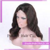 Parrucca piena indiana della parte anteriore del merletto dei capelli umani della donna