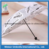 ニュースPaper Printing日曜日およびRain Weather Promotion Gift Folding Umbrella Outdoor Use Parasol