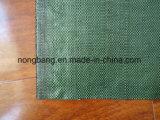 Anti plástico UV preto tela tecida da tampa 90GSM à terra
