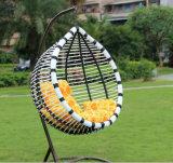 Mobiliário de jardim Cadeira de suspensão Cadeira de ovo de vime Balanço de enrolado ao ar livre (D017A)