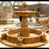 Fontana di pietra di marmo Mf-335 dell'oro di Ny del granito della scultura & di scultura
