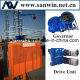 Levage d'ascenseur de construction de Sc100 20m/Min