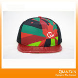Do jacquard liso da borda de Customed chapéus mexicanos do Snapback do estilo