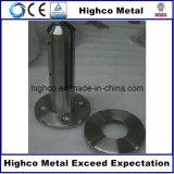 円形のフランジが付いているガラス栓を囲うステンレス鋼のガラスプール