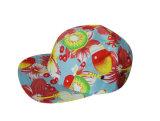 縞の革ラベル5のパネルの余暇の帽子の帽子