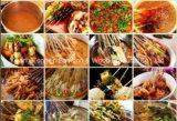 Skewers e varas descartáveis de bambu fritados do alimento