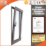Doble Acristalamiento Tempered Clear Glass Aluminio Tilt and Turn Windows, Mejores Tratamientos de Superficie Aluminum Tilt & Turn Windows