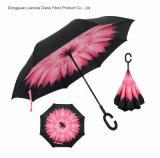 C 모양 손을%s 가진 창조적인 겹켜 거꾸로 한 우산 반전 폴딩