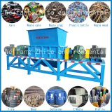 Leistungsfähiger Plastik/Holz/überschüssige Gummireifen-Wiederverwertung/Gummi/Küche/städtischer Abfall/Schaumgummi/Tierknochen-/Altmetall-zweiachsiger Reißwolf