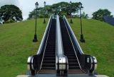 Step de alumínio Outdoor Escalator com Vvvf