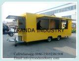 Véhicule de buffet de BBQ glissant le chariot de déplacement de yaourt surgelé de restaurant de caravane de Windows