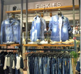 Cremagliera di visualizzazione fissata al muro elegante dell'indumento del metallo per il disegno del negozio dei vestiti delle signore