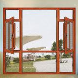 Da cereja padrão da madeira contínua de Médio Oriente janela de alumínio de madeira (FT-W108)