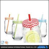 Aufgerundetes transparentes Glasflaschen-Maurer-Glas-Glas
