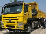HOWO半40トンの頑丈なトラックのダンプカーのトレーラー3の車軸