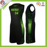 A camisola feita sob encomenda Sublimated do basquetebol da impressão de cor do projeto das vendas por atacado personalizou o uniforme do basquetebol