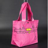 10oz raffinent les sacs à provisions réutilisés par coton blanc de traitement avec le logo fait sur commande