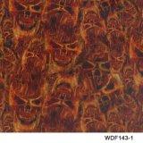 Kingtop 1m Overdracht die van het Water van het Ontwerp van de Schedels en van de Vlam van de Breedte Hydrografische Film wdf136-2 afdrukken
