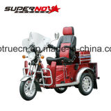 Triciclo com deficiência a gasolina com sistema de segurança
