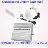 Repetidor duplo do sinal de Cmda PCS do repetidor do sinal da faixa 850/1900MHz St-1085b do impulsionador móvel do sinal