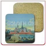Hochwertiges Genuine Leather Coaster Set für Promotion Gift