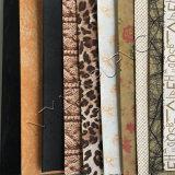 Tissu métallisé de cuir de configuration de Clemence pour des chaussures et la fabrication de sacs