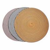 O dobro colore a esteira de lugar tecida o poliéster 100% para o Tabletop