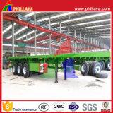 de 3-Tri-Axle 20-40FT du l'Élevé-Bâti 40-60ton de plate-forme de camion de conteneur remorque à plat semi