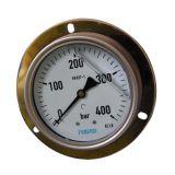 Plein manomètre de contre-pression d'acier inoxydable de 4 Inch-100mm avec la bride