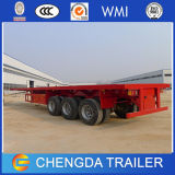 20FT 40FT reboque Flatbed do recipiente de 3 eixos para a venda