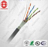 Cable de comunicación de datos de doble vaina en un conductor de cobre sólido
