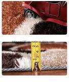 Tapete 100% Shaggy da pilha elevada de superfície ultra macia colorida do poliéster para a HOME