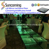 DEL Color Changing Tiles 3D Dance Studio Mirrors Floor