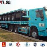 De op zwaar werk berekende Aanhangwagen van de TriAs van het Staal 40FT Verlengbare Flatbed voor Apparatuur