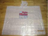 Mens плащей устранимого ясного пластичного PE пальто дождя пластичные делают пальто водостотьким дождя PE/Plastic для взрослого