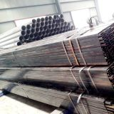 溶接された黒いカーボン正方形の鋼鉄空の管