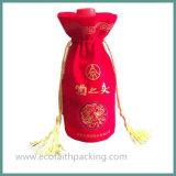 Saco do frasco de vinho de veludo da alta qualidade com Tassels