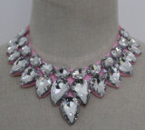 2015 nueva joyería de moda del grano de cristal de vestuario Gargantilla ( JE0067 )