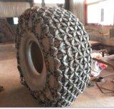 A proteção do pneu do carregador da roda acorrenta Cadenas Proteccion