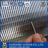 Pantalla de alambre de la cuña de la pantalla de alambre de la cuña del acero inoxidable 304 para la pantalla de alambre bien de la cuña de la perforación