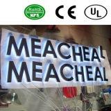 Signe acrylique de lettre de la Manche de la qualité DEL