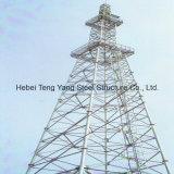 Torre de aço de telecomunicações tubulares GSM Telecom 4 Legs