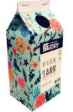 우유 주스를 위한 500ml 박공 상단 상자 또는 판지 또는 크림 또는 포도주 또는 요구르트 또는 물