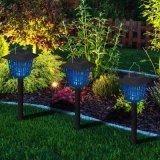 Luz solar del jardín del asesino del mosquito con las estacas