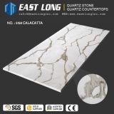 Pedra de superfície Polished artificial de quartzo de Calacatta Engineed para bancadas da cozinha