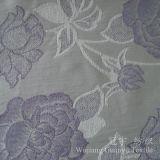 Tissu 100% de Chenille teint de fils de polyesters de configuration de fleur de jacquard