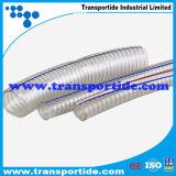 Manguera de PVC de alta Quatity Transportide con alambre de metal reforzado