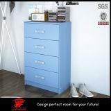 Gavetas de madeira clássicas azuis modernas da caixa da mobília do quarto dos miúdos