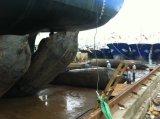 Bolsa a ar de borracha marinha para o lançamento do navio
