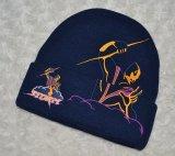 Gorrita tejida de encargo hecha punto de moda del telar jacquar del invierno (002)